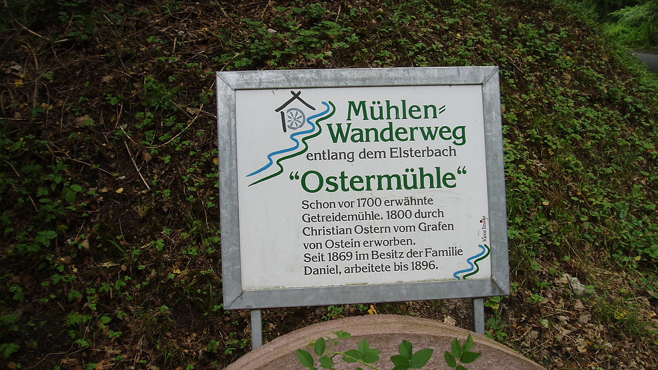Die Ostermühle am Elsterbach